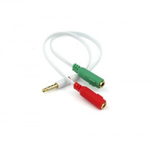 3.5mm AUX Headphone Microphone Cable Coupler Adapter 2x 3 Pole Female to 4 Pole Male