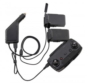 Dual Car Charger for DJI Mavic Air Battery with USB for Remote Control