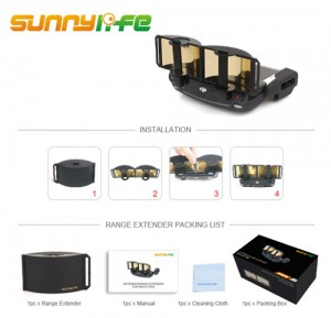 Sunnylife Foldable Antenna Range Extender for DJI Spark Mavic Pro Mavic 2 Mavic Air Remote Control