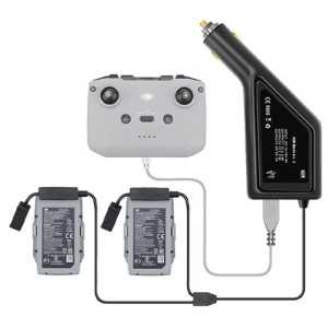 Yx Dual Battery Car Charger for DJI Mavic Air 2 Battery with USB