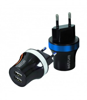 Astrum CH220 2.1A Dual USB Home Charger + Micro USB Cable