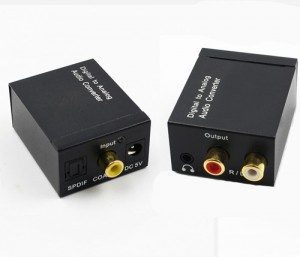 Digital to Analog Audio Converter SPDIF / Coaxial to 3.5mm / RCA Audio Converter