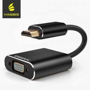 Hagabis HDMI to VGA Adapter with 3.5mm Audio Output
