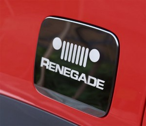 Stainless Steel Fuel Door Cover for Jeep Renegade