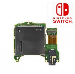 Nintendo Switch Game Card Slot Game Cartridge Reader 3.5mm Earphone Jack Module Replacement Repair
