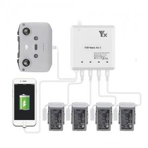 Yx 6in1 4 Battery Charging Hub for DJI Mavic Air 2